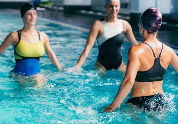 Aqua Aerobic Training in Water Sport Centre.